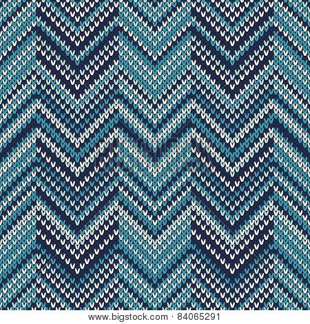 Chevron Knitted Pattern. Seamless Sweater Design