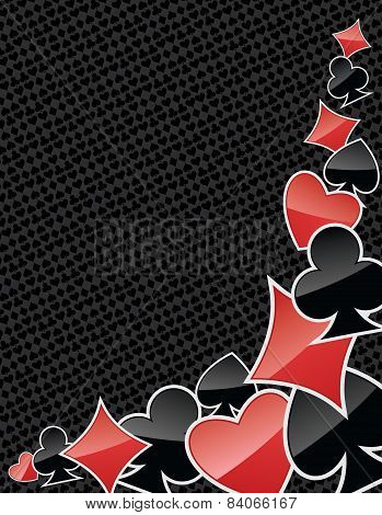 Abstract Poker Suits Background
