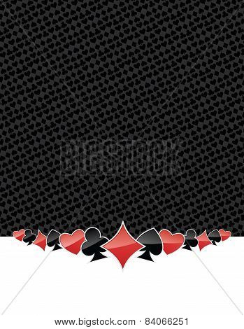 Poker Suits Gambling Background