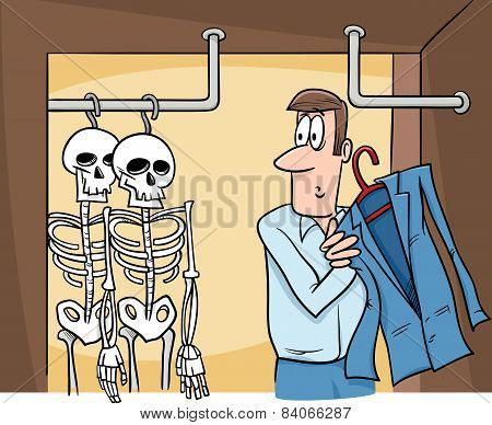 Skeletons In The Closet Cartoon