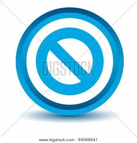 Blue ban icon