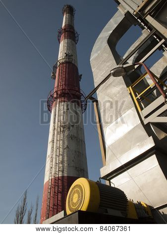 Beat Red High Concrete Chimney