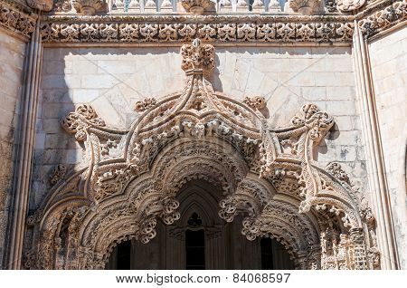 Architectural Details Of The Unfinished Chapels In Batalha Monastery