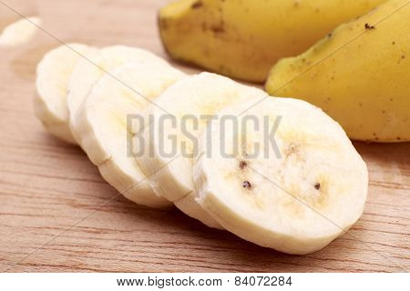 Banana Bunch And Sliced Bananas