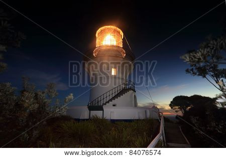 Nightfall At Sugarloaf Point Lighthouse
