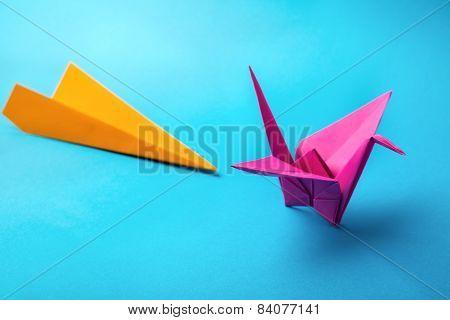 colored paper origami