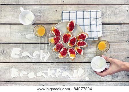 Early Breakfast Table