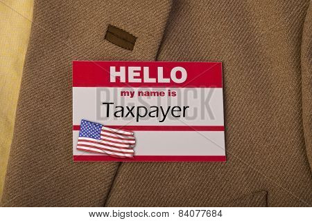 My Name Is Taxpayer.