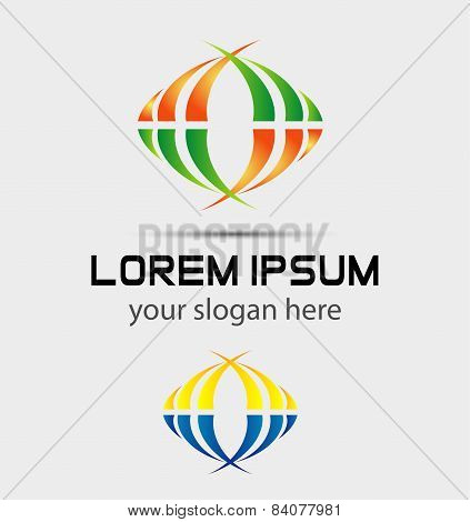Colorful business logo