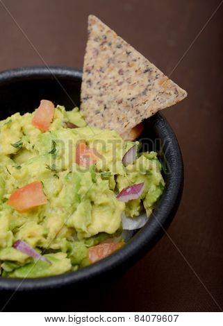 Guacamole And Whole Grain Chip