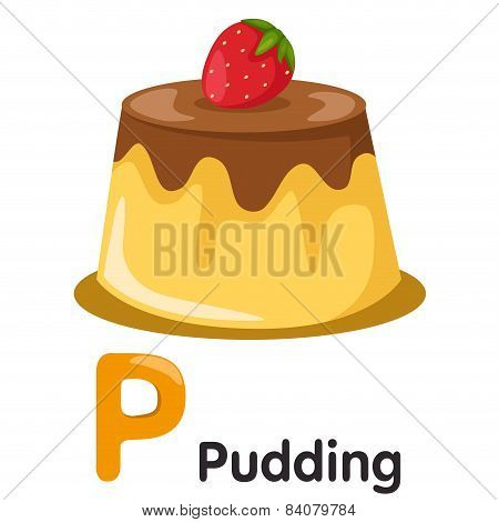 Illustrator of P font with pudding