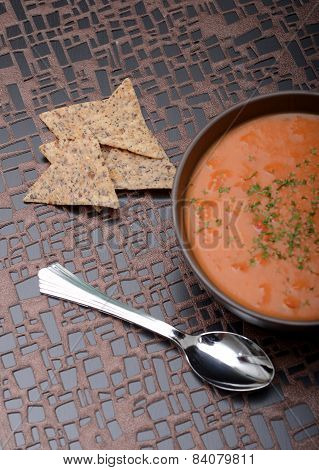 Vegan Tomato Soup And Chips