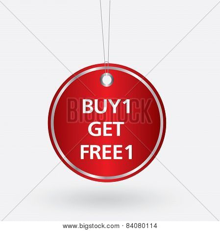 red oval buy 1 get free 1