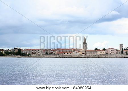 Storm Approaching Porec (parenzo) Old Town In Istria, Croatia, Adriatic Coast