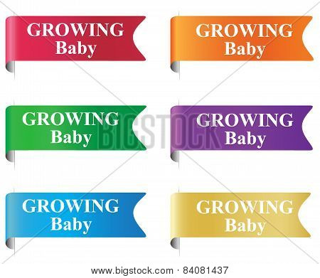 growing baby, badge, label, tag, sign, vector, illustration
