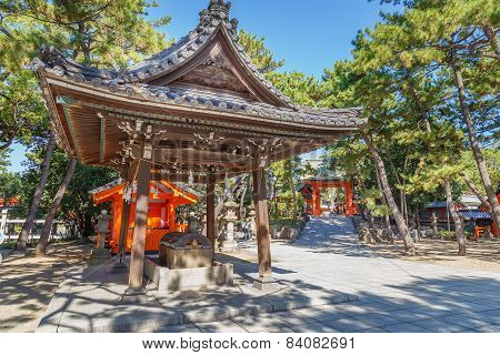 Small Shrine at Sumiyoshi Grand Shrine (Sumiyoshi-taisha) in Osaka