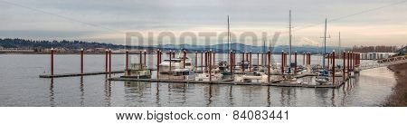 Marina On Columbia River Panorama
