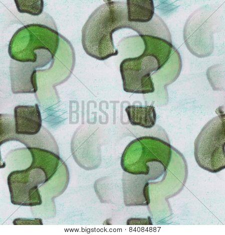 Seamless greenish-gray matters ancient ornament wallpaper backgr