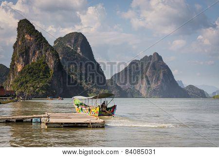 Long Tail Boat In Phang Nga Bay