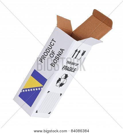 Concept Of Export - Product Of Bosnia