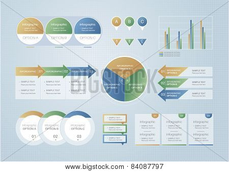 Infographic elements, vector illustration.