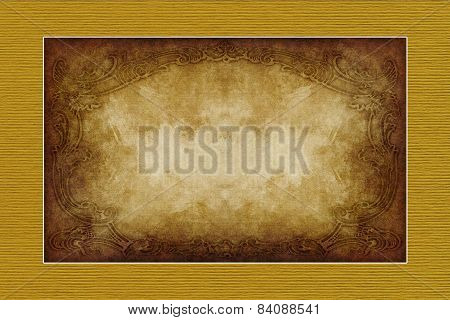 Yellow-brown Vintage Style  Paper