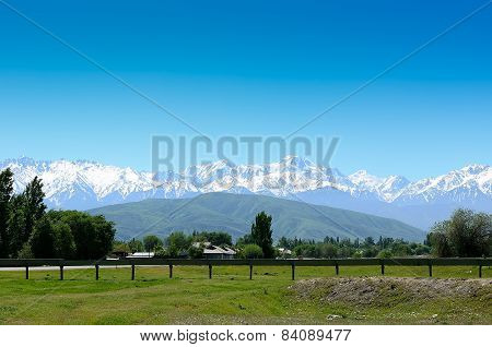snow-capped mountains