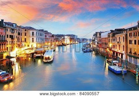 Venice - Rialto Bridge And Grand Canal