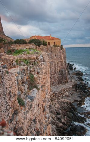 Cityscape At Monemvasia, Peloponnese, Greece