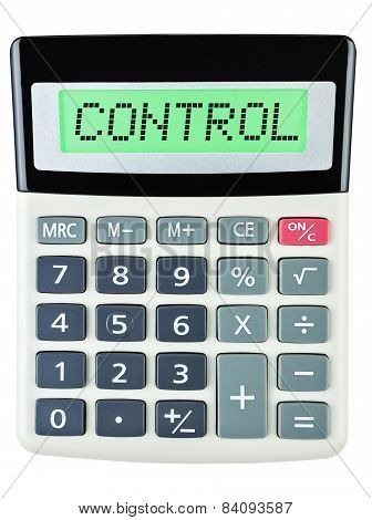 Calculator With Control