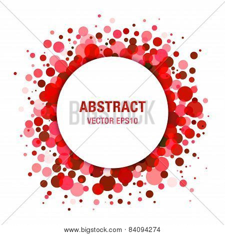 Red Bright  Abstract Circle Frame Design Element