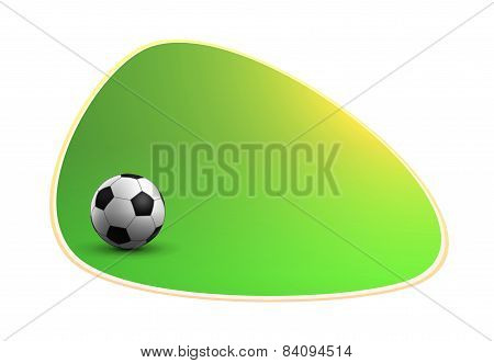 Green Banner With Soccer Ball