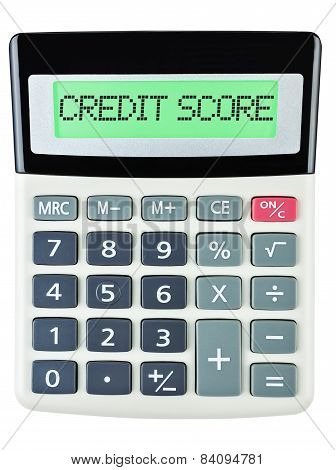 Calculator With Credit Score