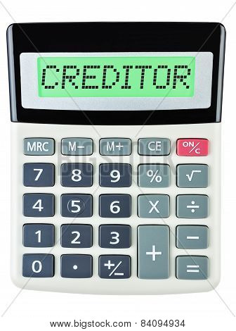 Calculator With Creditor
