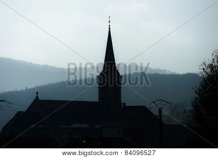 Old Countryside Church In Breitenbach, Alsace
