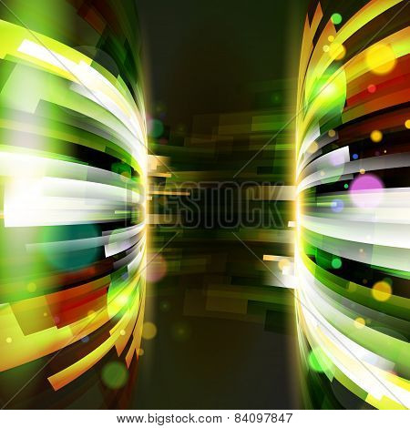 Abstract Energy Frame At Dark Background