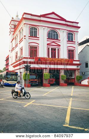 Malaysia, Penang, Georgetown - Circa Jul 2014: This Ornate Building Is An Active Fire Station Protec