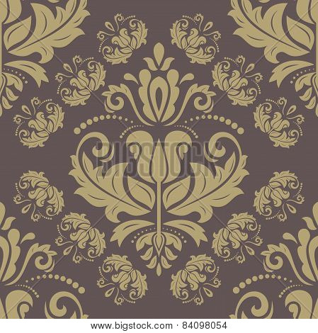 Wallpaper in the style of Baroquen. Abstract  Background. Brown and Golden Colors