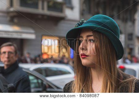 People Outside Trussardi Fashion Show Building For Milan Women's Fashion Week 2015