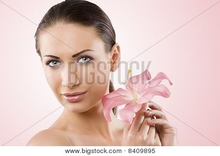 Fresh Beauty And Pink Flower