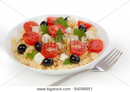 Pasta Salad In The Plate