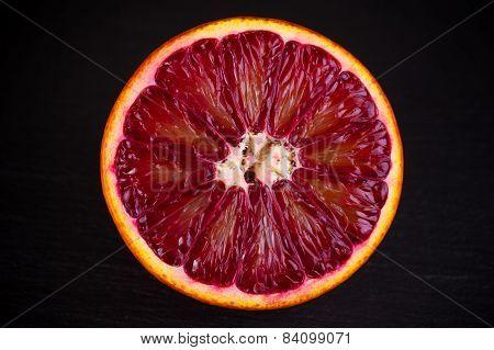 Slice Of Red Blood Sicilian Orange