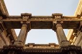 stock photo of pilaster  - Beautiful Adalaj Stepwell in Ahmedabad Gujarat India - JPG