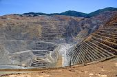picture of porphyry  - Wide Angle View of Bingham Kennecott Copper Mine - JPG