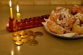 stock photo of hanukkah  - Hanukkah menorah  - JPG
