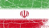 image of tehran  - Flag of Iran with old texture - JPG