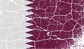image of qatar  - Flag of Qatar with old texture - JPG