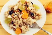 picture of oats  - oat muesli with berries - JPG