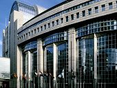 eu parliament building brussels belgium europe poster