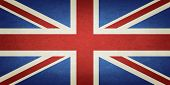 stock photo of ireland  - Grunge Flag Of United Kingdom Of Great Britain And Northern Ireland - JPG